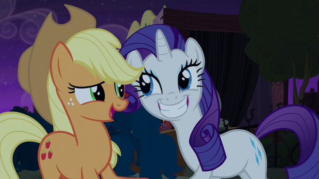 File:Rarity grinning wide at Applejack S5E16.png