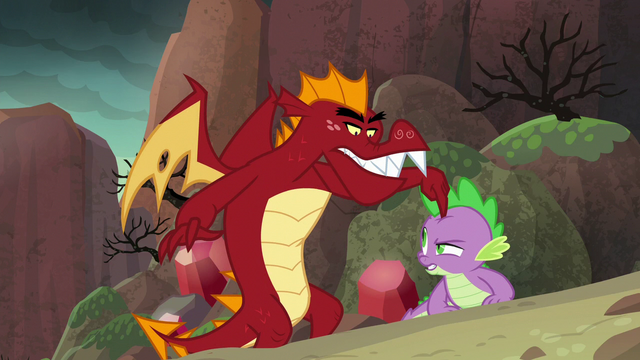 "File:Garble ""your pony friends made you soft"" S6E5.png"