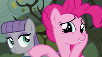 "Pinkie Pie flattered ""aw, shucks!"" S4E18"