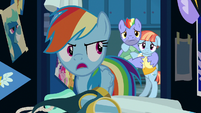 Rainbow Dash tells her parents to leave S7E7