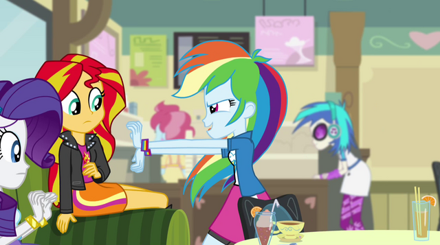 File:Rainbow Dash throws her hands out EG2.png