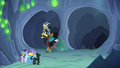 Discord Changeling guides the party down left tunnel S6E26.png