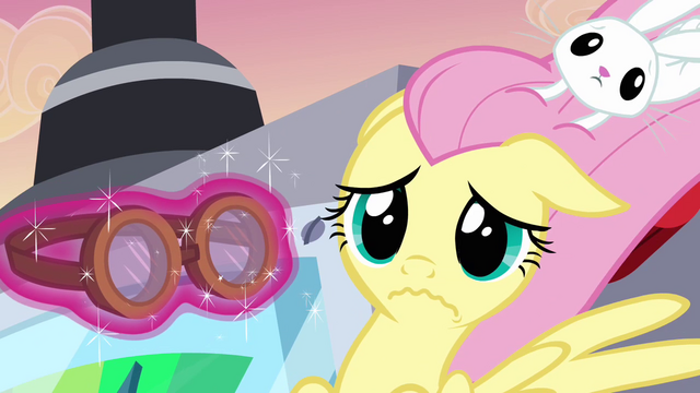 File:Fluttershy given a goggles S2E22.png
