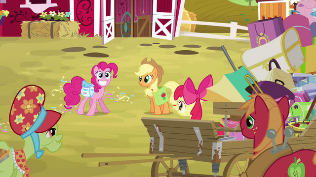 File:Pinkie Pie cheerful with saddlebags S4E09.png