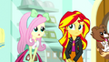 Fluttershy feels sorry for Sunset Shimmer SS7.png