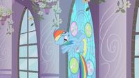 Rainbow Dash hitting the window S2E1