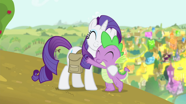 File:Spike hugging Rarity S4E23.png