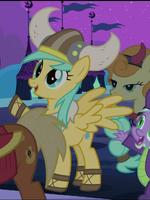 Sunshower Raindrops in Viking costume S02E04