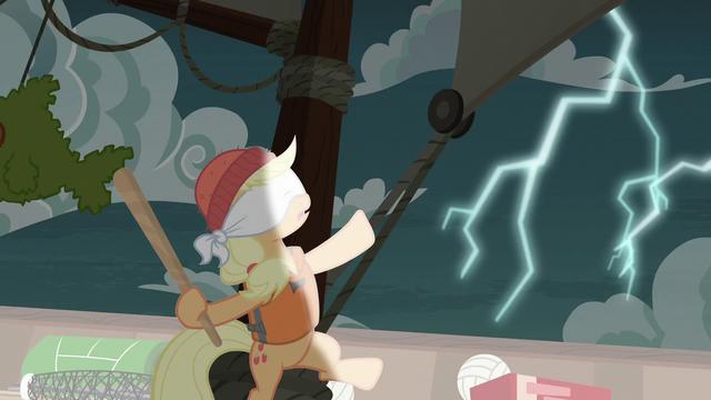 File:Applejack hears a lightning storm S6E22.png