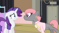 Prim Hemline in Rarity's face S4E08