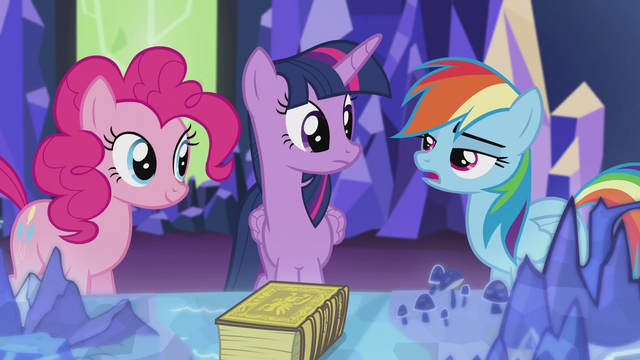 """File:Rainbow """"And why do you care so much about griffons anyway?"""" S5E8.png"""
