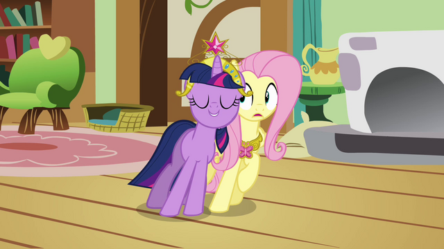 File:Twilight happy and Fluttershy confused S03E13.png