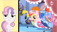 Apple Bloom's piggy head sticking out S3E4