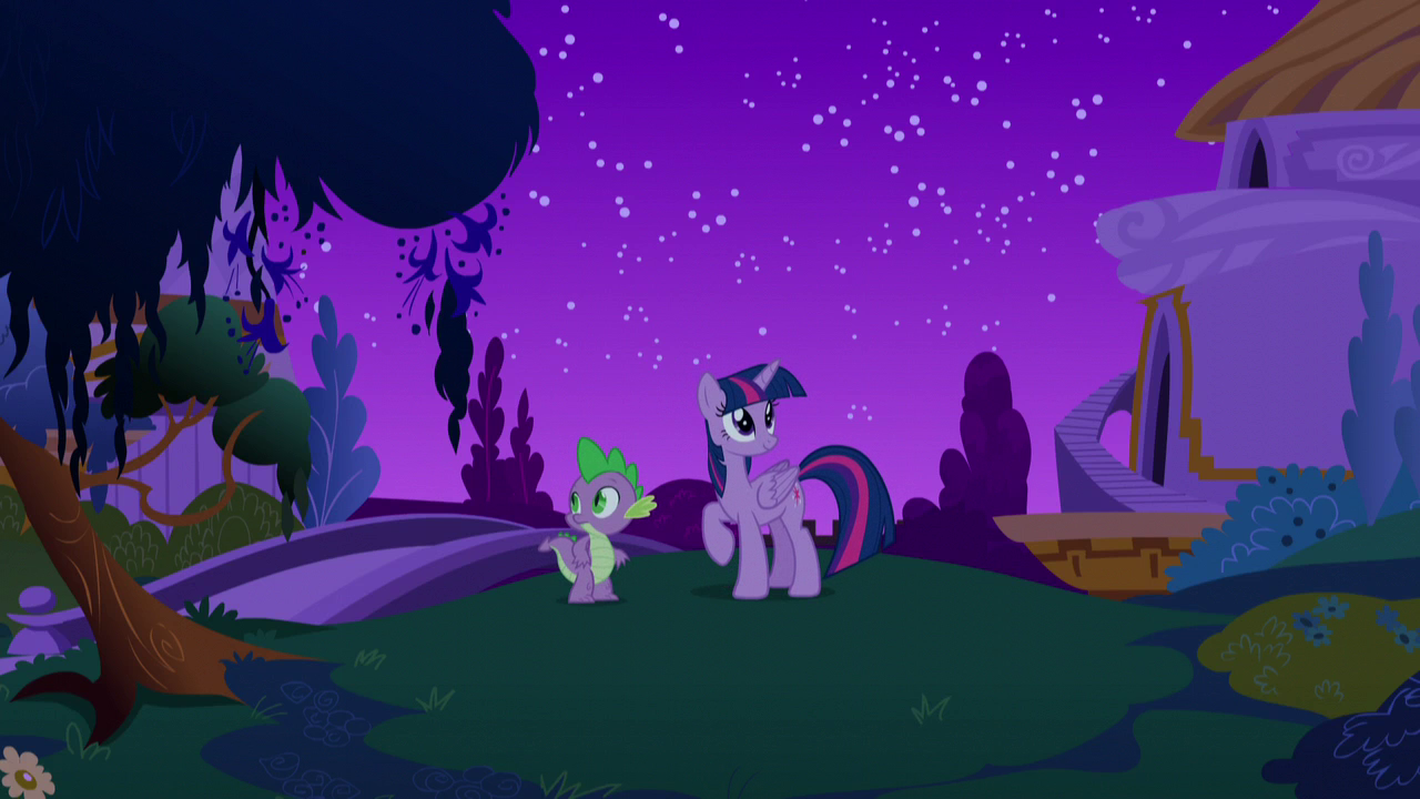 Plik s05e12 twilight i spike w canterlocie noc png my for Cie no 85 table 4