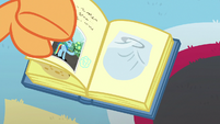Scootaloo pastes Rainbow's diaper in her scrapbook S7E7