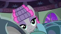 Maud Pie lying in Pinkie Pie's bed S7E4