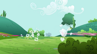 Pinkie Pie and clone zoom off S3E3