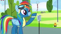 Rainbow Dash finishes her speech S7E7