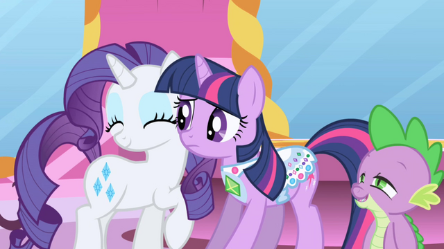 File:Spike gazing at happy Rarity S1E1.png