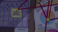 Zoom out from Friendship Games sticky note EG3