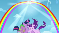 A Rainbow arc is formed; a portal opens S5E26