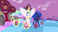 Elements surrounding Celestia and Luna S4E02