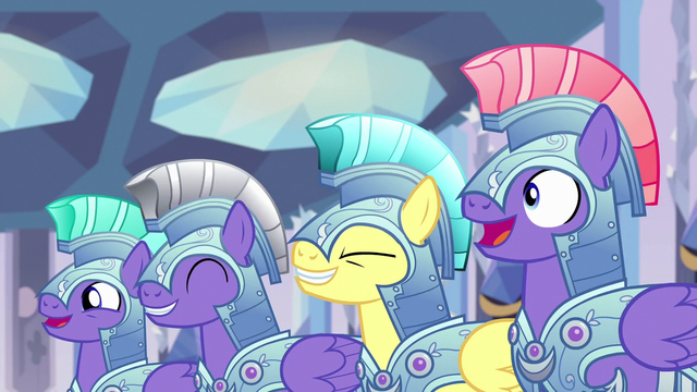 File:Royal guards cheering for Thorax S6E16.png