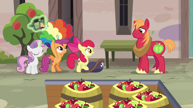 File:Cutie Mark Crusaders removing their disguises S7E8.png