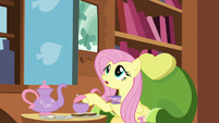 Fluttershy apologizing to Discord S7E12