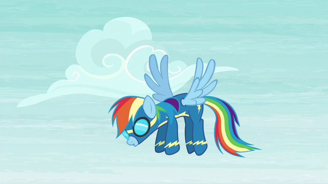File:Rainbow Dash hangs back S6E7.png