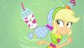 Applejack tosses a smoothie behind her back SS9.png