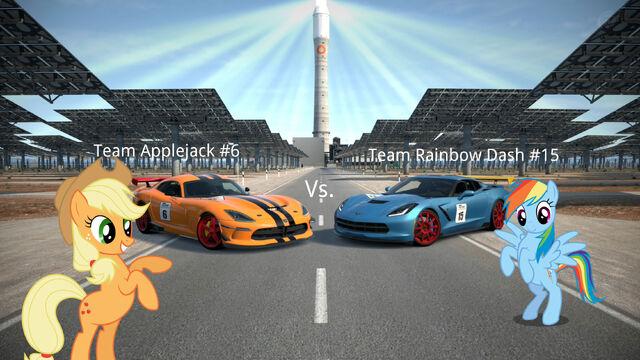 File:FANMADE MLP Racing blog game image Team battle Team aj and tean rd.jpg