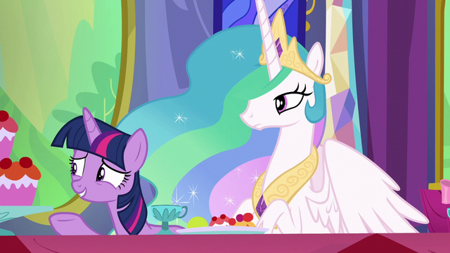 File:Twilight gestures toward other dinner guests S6E6.png