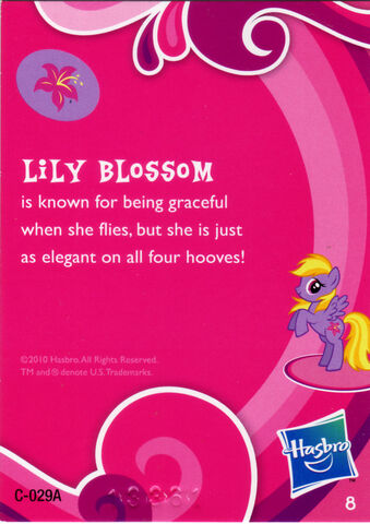 File:Wave 1 Lily Blossom collector card back.jpg