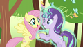 Fluttershy and Starlight happy S5E26.png