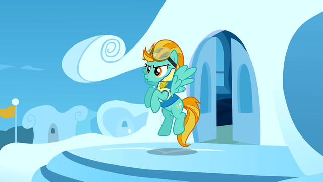 File:Lightning Dust about to go into the cafeteria S3E7.png