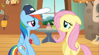 Rainbow Dash backing off S2E22