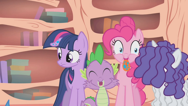 File:Spike bursts out laughing after Flutterguy speaks S1E09.png
