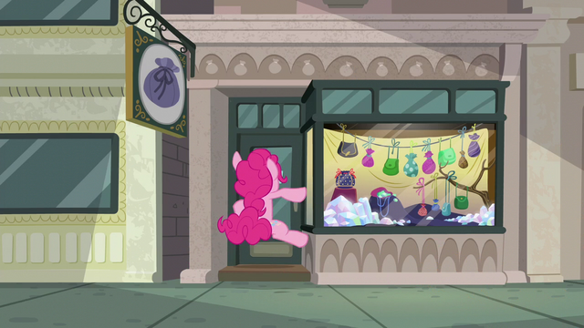 File:Pinkie Pie slams into rock pouch store door S6E3.png