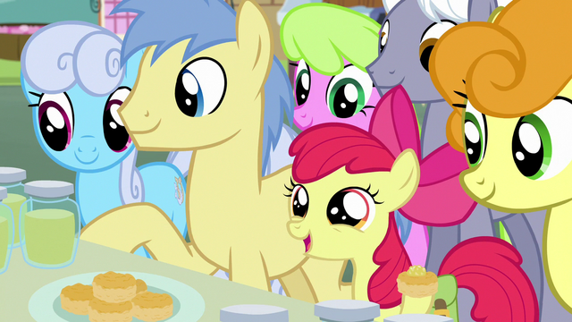"""File:Apple Bloom """"welcome to Ponyville!"""" S7E13.png"""