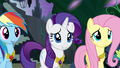 Ponies smiling at Twilight's speech S4E02.png