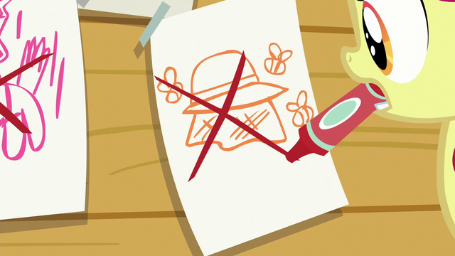 File:Apple Bloom crosses out beekeeping S6E4.png