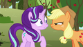 Applejack scowling in Starlight's face S6E6.png