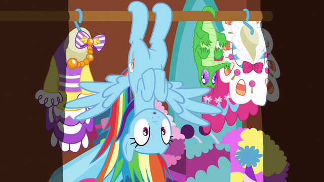 File:Rainbow hanging upside-down in Pinkie's closet S6E15.png