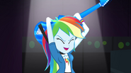 Rainbow Dash with guitar behind her head EG2
