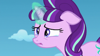 Starlight teary-eyed listening to Twilight S5E26