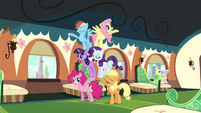 The Mane six cheering routine S3E12