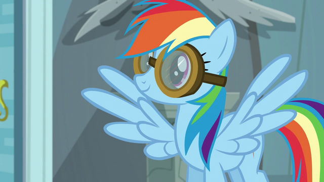 File:Rainbow Dash puts her goggles on S6E7.png