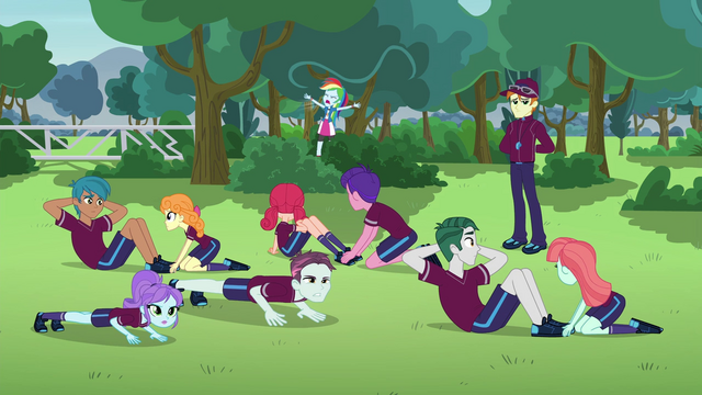 File:Rainbow Dash yelling in the open EG3.png