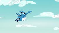 Bluebird flying through the sky EG4